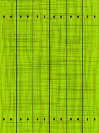 グリーン フェンスは木製の穀物とグランジ効果を示す木製の板から成っている. 写真素材 - 64483109