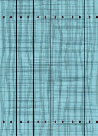 青いフェンスは木製の穀物とグランジ効果を示す木製の板から成っている. 写真素材 - 64483113