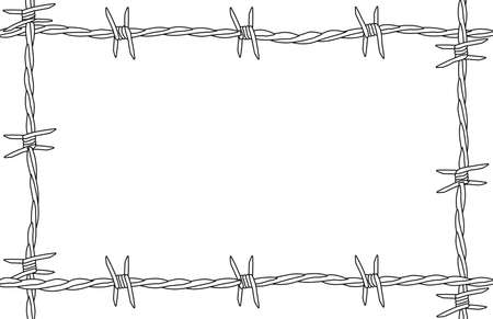 barbed wire frame: A barbed wire background as a page border