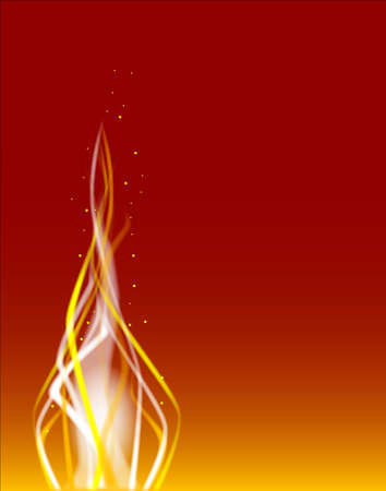 abstract fire: A fire dancing background with sparks over a red background