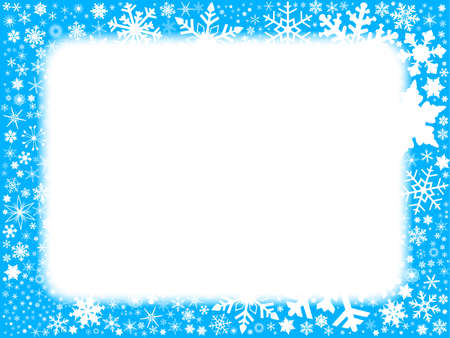 copy: A cold blue snowflake copy space background