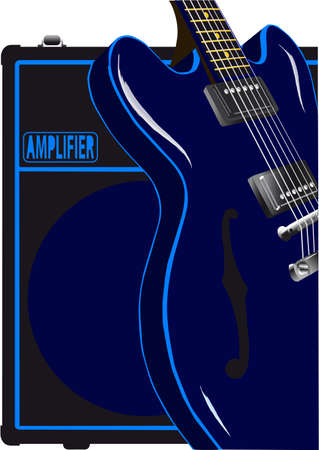 amplifiers: A classic blues guitar with a valve amplifier.