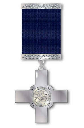 exceptional: The George Cross medal awarded for exceptional bravery to both the military and civilians Illustration