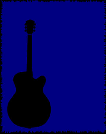 blues music: A guitar  blues music style background for a poster