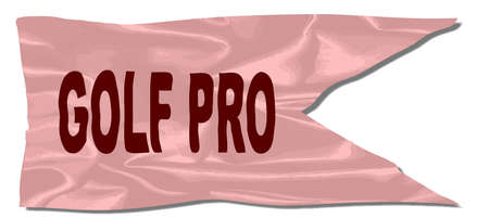 A silk flag with the legend GOLF PRO Illustration
