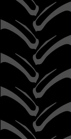 tread: Tyre tread of a typical generic tractor or off road vehicle Illustration