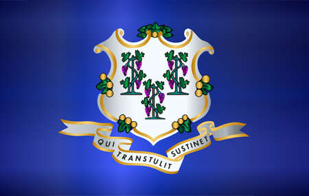 The seal of the USA state of Connecticut over a white background