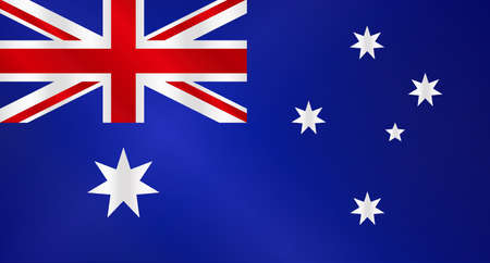 The flag of Australia with Union Jack and stars