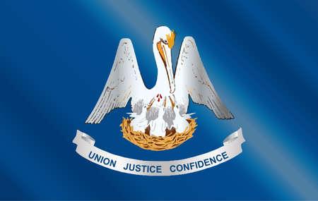 u.s. flag: The U S State of Louisians flag