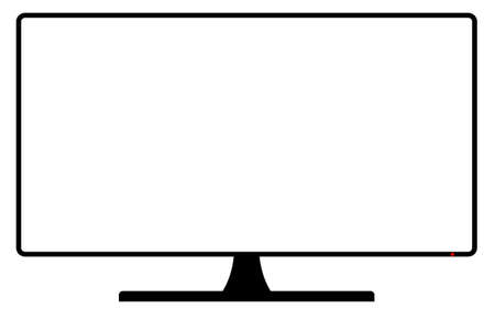 A TV or computer screen with copy space area