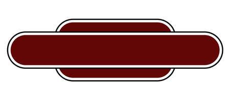 Een lege station naamplaat op een witte achtergrond