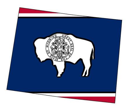 フラグを挿入すると分離されたワイオミング州の概要