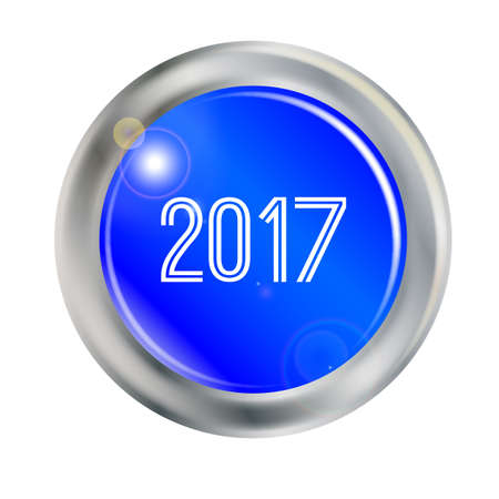 A button with the legend 2017 over white