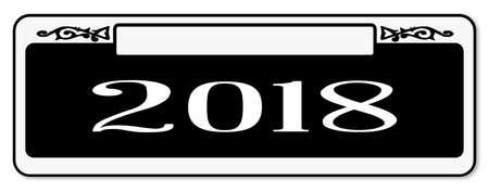 New Orleons 2018 street sign over a white background Illustration