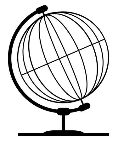 A wire or line style globe of the earth.