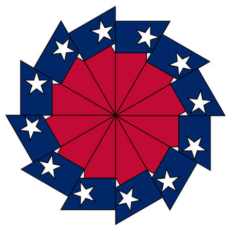 The flag of the USA state of TEXAS as a mandala image Illustration