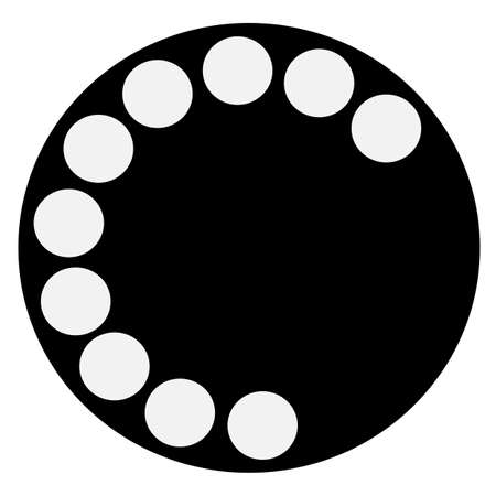 An fashioned typical telephone round isolated icon.