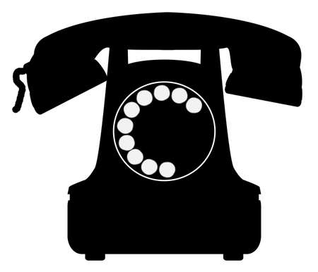 A large old fashioned typical telephone icon.