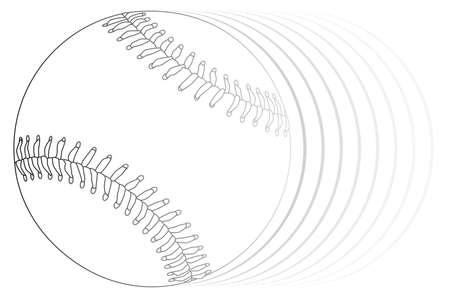 A new white speedingbaseball isolated on a white background white background. Illusztráció