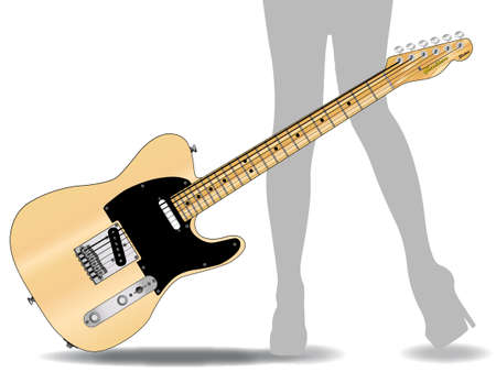 The definitive country guitar isolated over a white backdrop.