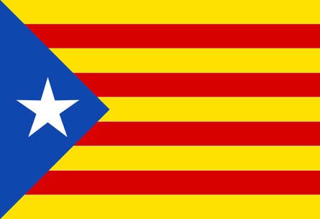 The flag as used by the Catalan portion of Spain