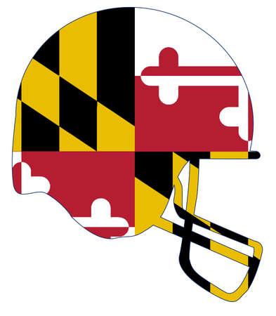 The flag of Maryland on a football helmet icon.