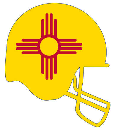 The flag of New Mexico on a football helmet icon. Stock Vector - 88605065