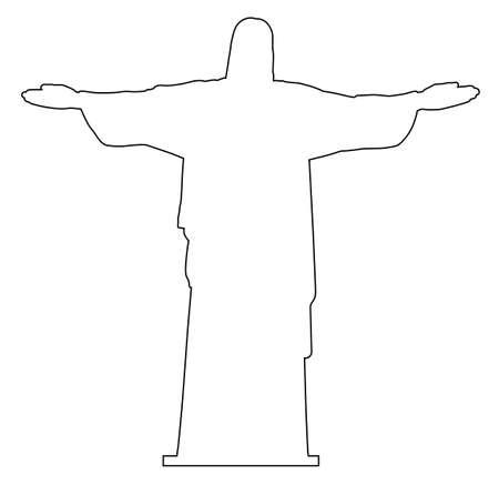 Contorno de la estatua de Cristo Redentor
