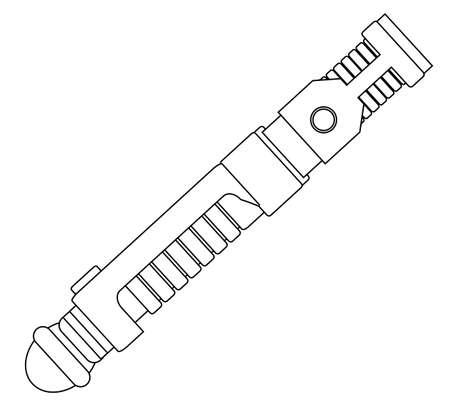Sci-fi light sword weapon. Ilustração