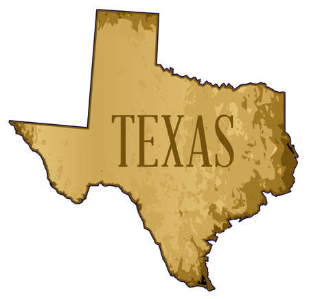 A parchment background of brown shades in the shape of a map of Texas Stock Vector - 89708237