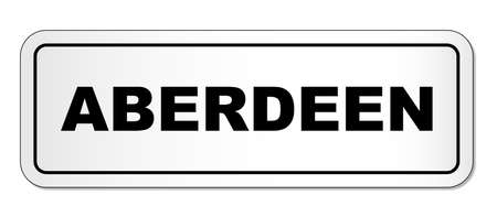 The city of Aberdeen nameplate illustrated in black text on a white background