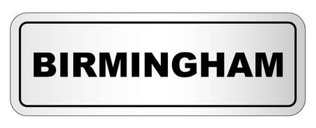 The city of Birmingham nameplate on a white background Illustration