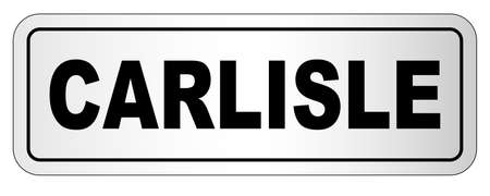 The city of Carlisle, nameplate on a white background