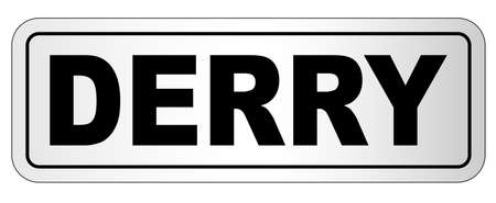 The city of Derry nameplate design.