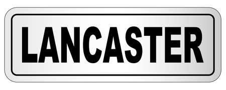 The city of Lancaster nameplate on a white background