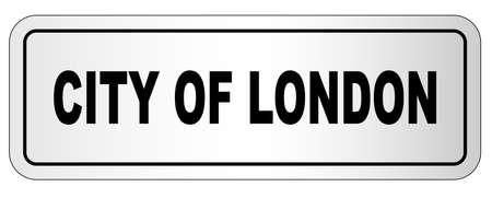 The city of London nameplate on a white background
