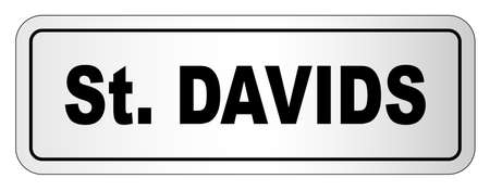 The city of Saint Davids nameplate on a white background