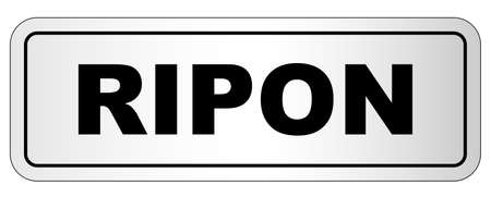 The city of Ripon nameplate on a white background Stock Illustratie
