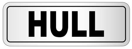 The city of Hull nameplate on a white background