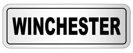 Winchester nameplate on a white background Stock Illustratie
