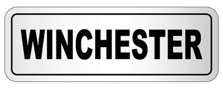 Winchester nameplate on a white background Ilustração