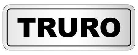 Truro nameplate on a white background