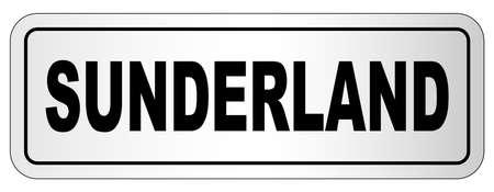 The city of Sunderland nameplate on a white background