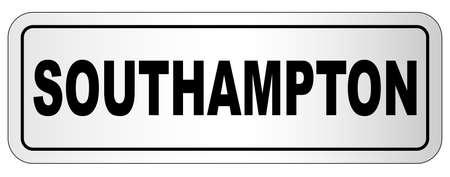 Southampton nameplate on a white background