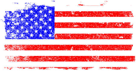The Stars and Stripes flag with a white grunge FX
