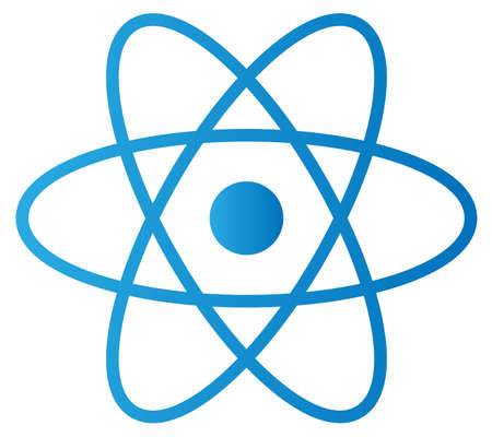 An abstract isolated atom in white background