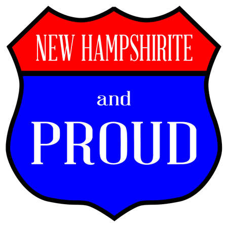 Route style traffic sign with the legend New Hampshirite And Proud.