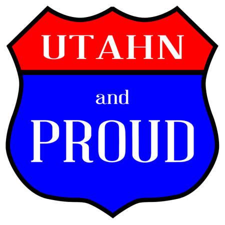 ルート スタイル交通標識 Utahn と誇りの伝説  イラスト・ベクター素材