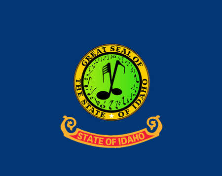 The state flag of the USA state of Idaho with musical substitutes  イラスト・ベクター素材