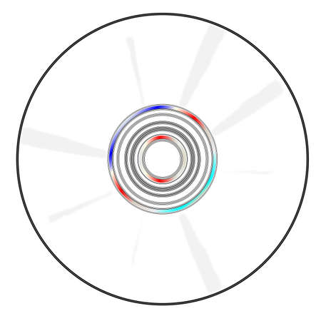 A blank CD disc over a white background
